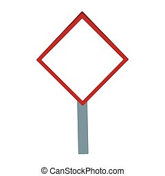 vide, icône, conception, signe, avertissement, plat