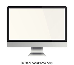 vide, informatique, exposer, moniteur, screen.