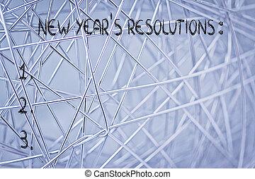 vide, liste, de, nouvelle année, resolutions, et, buts