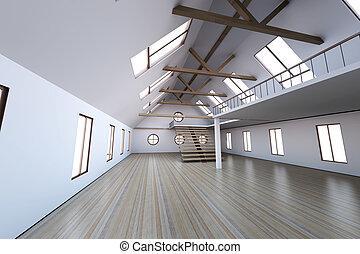 maison vide rendu illustration visualisation architecture int rieur 3d. Black Bedroom Furniture Sets. Home Design Ideas