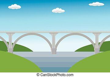 vide, moderne, pont