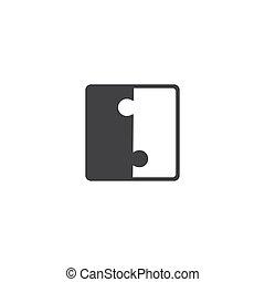 vide, morceaux, vecteur, puzzle