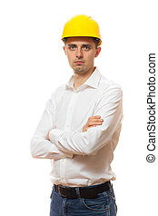 vide, -, ouvrier construction, signe