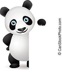 vide, panda, espace