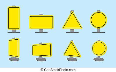 vide, panneaux signalisations