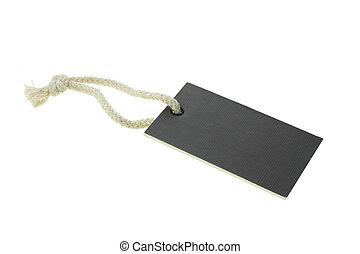 vide, papier, noir, carton, étiquette