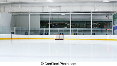 vide, patinoire, glace, 4k
