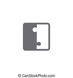 vide, puzzle, vecteur, morceaux