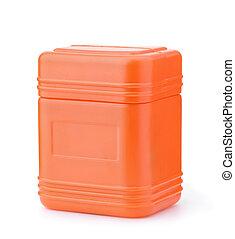 vide, récipient, orange, plastique