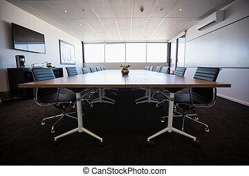 vide, réunion, salle moderne