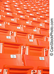 vide, sièges, à, stadium.