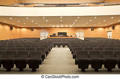 vide, sièges, de, a, auditorium