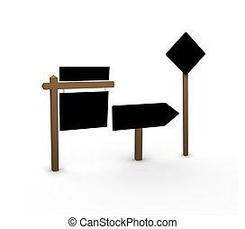 vide, signes, route