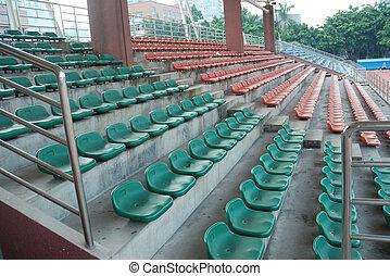 vide, sports, sièges stade