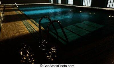 vide, swiming, concurrence, piscine