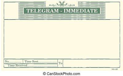 vide, telegram.