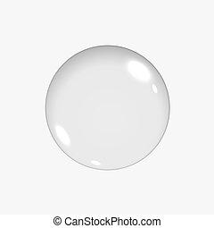 vide, translucide, encercler sphère, ou, verre