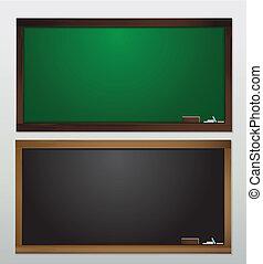 vide, vecteur, tableau noir