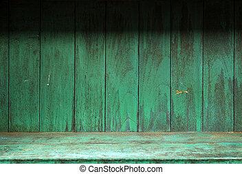 vide, vieux, bois, étagère