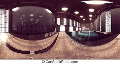vide, vr360, sport, piscine