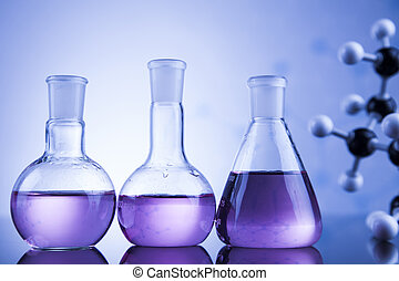 videnskab, begreb, kemisk, laboratorium glassware