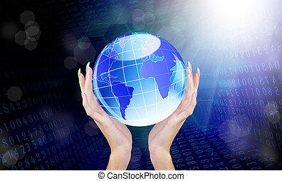 videnskab, concept.internet, forbinde