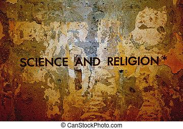 videnskab, og, religion