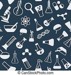 videnskab, pattrn, seamless