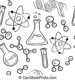 videnskab, seamless, baggrund