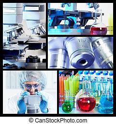videnskabelige, baggrund, collage.