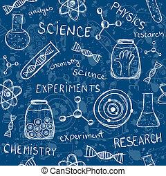 videnskabelige experimenter, seamless, mønster