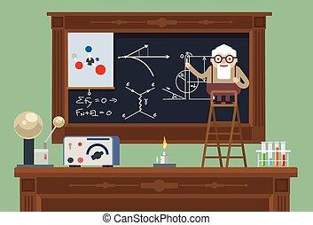 videnskabsmand, gamle, professor