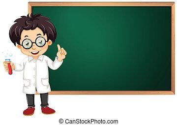 videnskabsmand, ind, klasseværelse