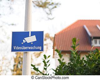 videoüberwachung, deutsch, wörter, auf, a, zeichen