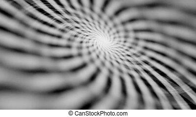 Hypnotizing rotating spiral