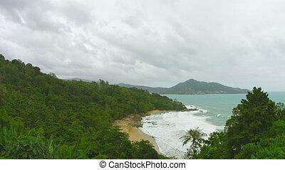 Panoramic view of the beach. Thailand, Phuket Island