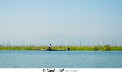 Plantations on water Inle Lake. Myanmar - Video 1080p -...