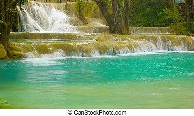 Beauty Kouang Si Waterfall, Laos, Luang Prabang - Video...