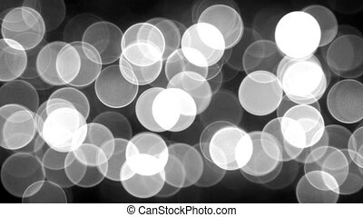 Bluredmonochrome lights and sparkles - loopable abstract backgrounds