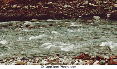 fast-flowing mountain river