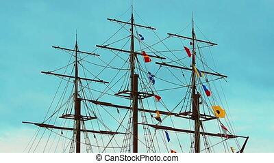 Three-masted frigate ship - Video 1920x1080 - Three-masted...
