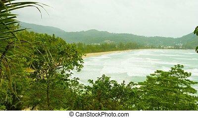 Kamala Beach on a cloudy day. Thailand, Phuket Island