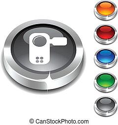 Video 3d button.