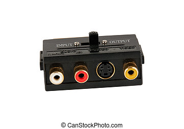 Video adapter on white background