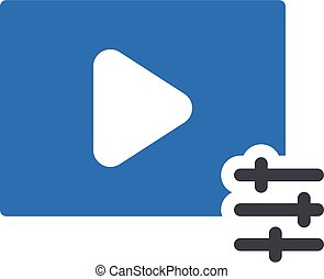 video adjustment vector glyph colour icon