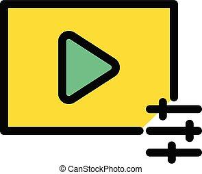 video adjustment vector line colour icon