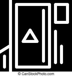 video advertising glyph icon vector black illustration