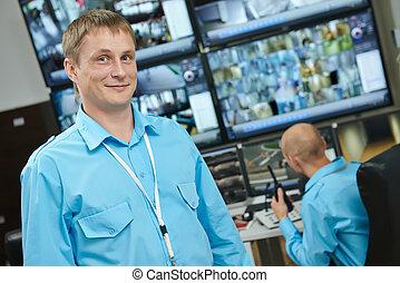 video, aflytning, opsigt, system security