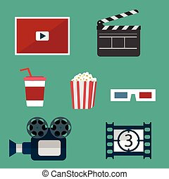 Video and Movie icons set