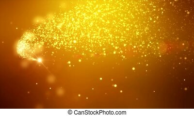 Video animation - christmas golden light shine particles...